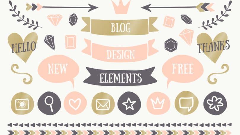 Blog Theme Graphic Design Elements